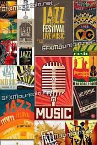 Vector - Retro Posters for Jazz Festival