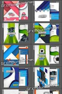 Vector - Flyers Template Design Collection 6