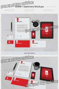 GraphicRiver -  Brand / Stationery Mockups