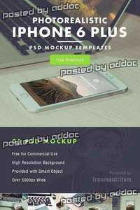 5 PSD Mock-Up's - iPhone 6 Plus 2015