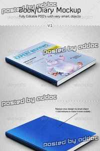 GraphicRiver - Book / Diary Mockup