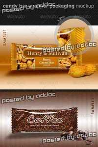 GraphicRiver - Candy Bar Wrapper Packaging Mock-Up