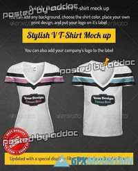 GraphicRiver - V T-Shirt Mock-up Men & Women