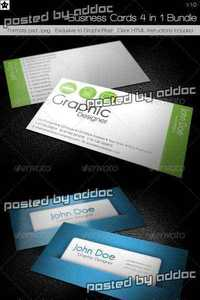 GraphicRiver - Business cards 4 in 1 Bundle
