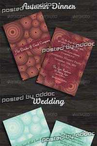 GraphicRiver - Wedding, Birthday, Thanksgiving Day Invitations