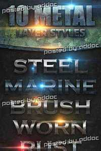 Graphicriver - Metal Layer Styles 8240593