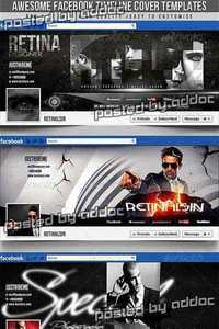 GraphicRiver - Facebook Timeline Covers - 3in1