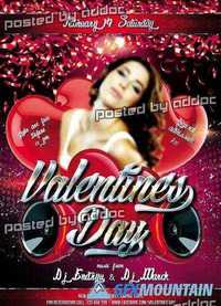 Valentines Day 2 Flyer PSD Template