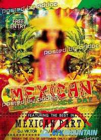 Mexican Party Flyer PSD Template