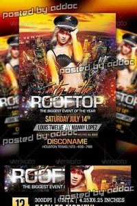 GraphicRiver - Party in the Rooftop | Flyer + Facebook Cover