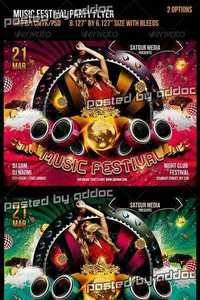 GraphicRiver - Music Festival Dance Party Flyer