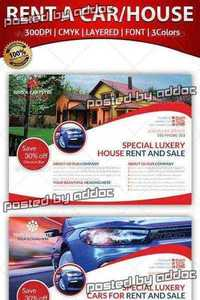 GraphicRiver - Rent A House And Car Flyer Template