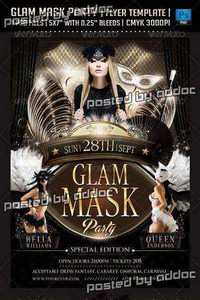 GraphicRiver - Glam Mask Party Flyer Template