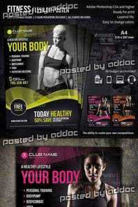 Graphicriver - Fitness Flyer 8883229