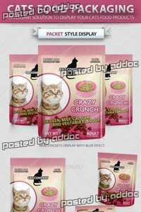 GraphicRiver - Cats Food Packaging Mock-up