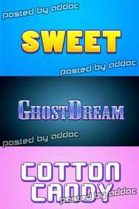 GraphicRiver: 10 Cartoon Text Style