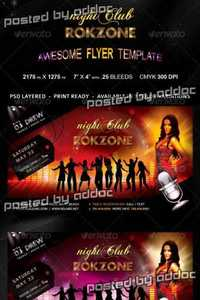 GraphicRiver - Roczone Flyer - 7 Color Variations - Print Ready