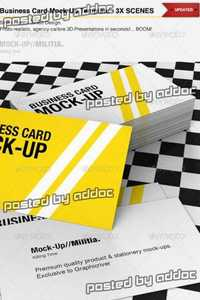 GraphicRiver - Business Card Mock-Up Template With Various Scenes