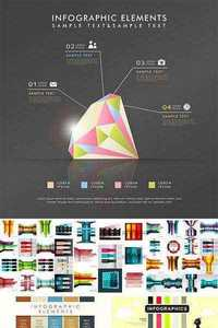 Stock: Modern design infographics, abstract background