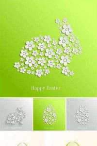 Stock: Vector abstract spring background