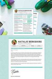 CM - Turquoise Resume Template Package 187952