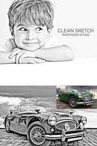 GraphicRiver - Clean Sketch - Photoshop Action
