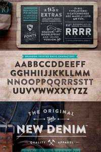 Brandon Printed Font Family – 8 Fonts