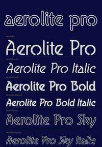 Aerolite Pro - Rounded Neon Font Family