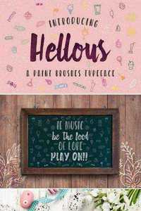 Hellous Typeface with EXTRAS
