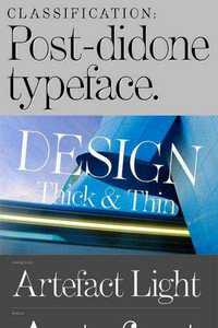 Artefact Font Family - Thick and Thin Modern Strokes