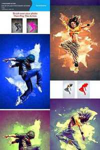 GraphicRiver Color Splash Photoshop Actions 10986483