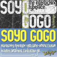 Soyo Gogo - Interlocking Opentype with Wrap Around & Ornament Construction Kit