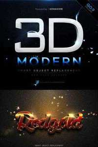 Modern 3D Text Effects GO.9 - Graphicriver 11334349