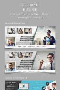 GraphicRiver - Corporate Bundle Fb Timeline and Twitter Header 11364091