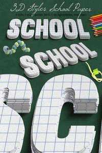 3D School Paper Styles - Graphicriver 11393001