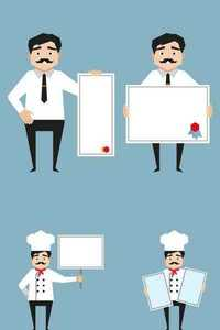 Stock Vectors - Man holding whiteboard presentation