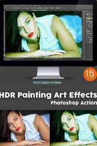 GraphicRiver - 15 HDR Painting Art Effects - Photoshop Action 11416425