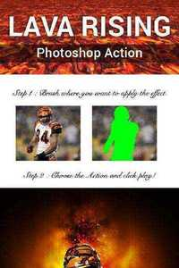 GraphicRiver - Lava Rising Photoshop Action 11358086