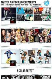 GraphicRiver - Twitter Photo Collage Header V3 11334100