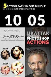 GraphicRiver - Bundle of 05 Photoshop Action Packs 11495128