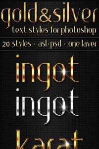 GraphicRiver - Gold & Silver - Text Styles 3575293