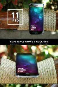 GraphicRiver Rope Fence Phone 6 Mock-ups