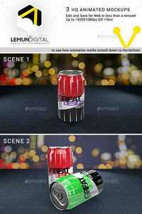 GraphicRiver - Animated Soda Can MockUp 11713274