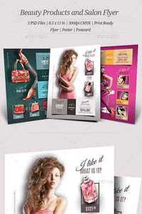 GraphicRiver - Beauty Products and Salon Flyers 11734804