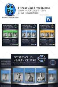 GraphicRiver - Health Sports Fitness Flyer Bundle 11769932