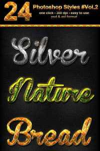 GraphicRiver - 24 Photoshop Text Effect Styles Vol 2 11794494