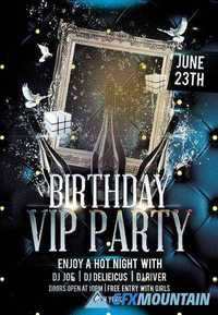 Birthday Bash Flyer Psd Template Facebook Cover 187 Free