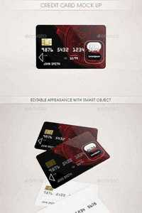 GraphicRiver - Credit Card Mock Up 11718045