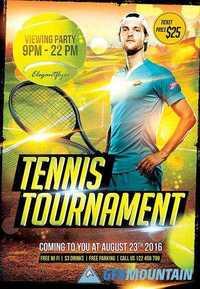 Tennis Tournament Flyer Psd Template Facebook Cover