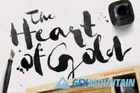Heart of Gold Brush Typeface